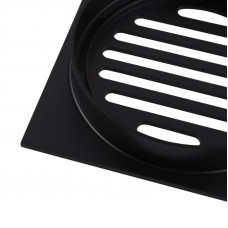 110x110mm Square Black Brass Floor Waste Shower Grate Drain Outlet 100..