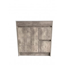 750mm Marble Grey Vanity Units Single Porcelain Basin Plywood  Cabinet