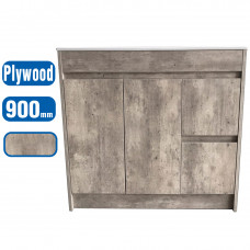 900x450x850mm Marble Grey Vanity Units Single Porcelain Basin Plywood ..