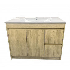900x450x850mm White Oak Vanity Units Single Porcelain Basin Plywood  C..
