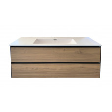 1200mm Plywood Wall Hung Vanity  With Double Ceramic Basin