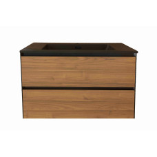 1200mm Plywood Wall Hung Vanity  With Double Matt Black Basin