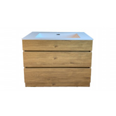1200mm Plywood Floor Standing Vanity  With Ceramic Basin