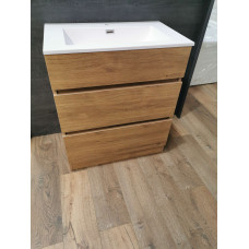 750mm Plywood Floor Standing Vanity  With Ceramic Basin