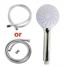 Chrome Round HandHeld Shower With Water Hose
