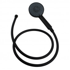 Nero Black 5 Function Round Hand Held Shower With Hose