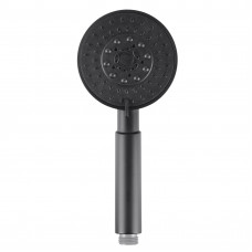 ABS Matt Black 5 Functions Round Handheld Shower Only