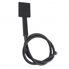 Black Square HandHeld Shower Head With Water Hose