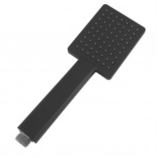 Black Square Hand held Shower Hand Shower Head Only