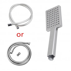 Square Chrome ABS Rainfall Handheld Shower Head With Water Hose