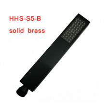 Matte Black Brass Square Hand Held Shower Spray Head