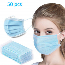 Disposable Face Masks Mouth Mask Protective Anti Bacterial Filter 50pc..