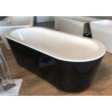 1775x795x555 mm Oval Bathtub Freestanding Acrylic Black Bath tub