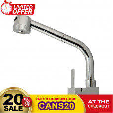 Square Chrome Pull Out Kitchen/Laundry Sink Mixers Swivel Kitchen Tapw..