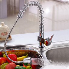 Spring Chrome Pull Out Spray Kitchen/Laundry Sink Mixers Swivel Kitche..