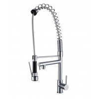 Spring Chrome Commercial Double Spout Kitchen/L..
