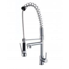 Spring Chrome Commercial Double Spout Kitchen/Laundry Sink Mixer Taps Swivel Kitchen Tapware