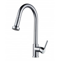 Euro Round Chrome Pull Out/Down Spray Kitchen/L..