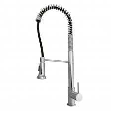 Tall Spring Chrome Pull Out Kitchen Sink Mixer Tap