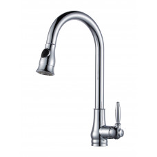 Euro Round Chrome Vintage Pull Out/Down Kitchen/Laundry Sink Mixer Tap..