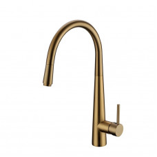 Pentro Round Brushed Yellow Gold 360 degree Swivel Pull Out Kitchen Si..