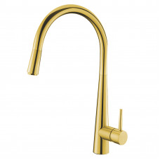 Euro Round Golden Pull Out Kitchen/Laundry Sink Mixer Taps Swivel Kitc..