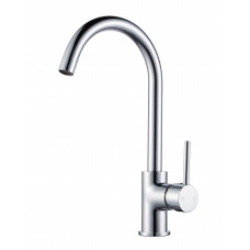 Euro Classic Gooseneck Round Chrome Standard Kitchen/Laundry Sink Mixer Taps Swivel Kitchen Tapware