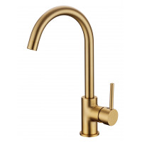 Euro Round Brushed Yellow Gold Kitchen Sink Mix..