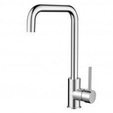 Round Chrome 360° Swivel Kitchen Sink Mixer Tap Gooseneck Spout