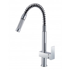 Spring Chrome Pull Out Kitchen/Laundry Sink Mixer Taps Swivel Spout Ki..
