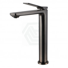 Rumia Brass Brushed Gunmetal Grey Tall Kitchen Mixer Tap Sink Mixer