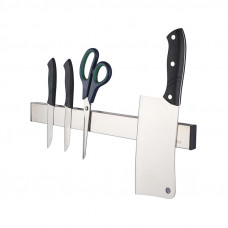 Brushed Silver Magnetic Knife Block Holder 400mm