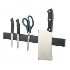 Black Magnetic Knife Block Holder 400mm