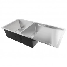 1000x440x232mm 1.2mm Handmade Double Bowls Top/Undermounted Kitchen Si..