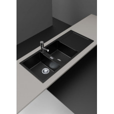 1160*500*200mm Metallic Black Granite Quartz Stone Kitchen Sink Double..