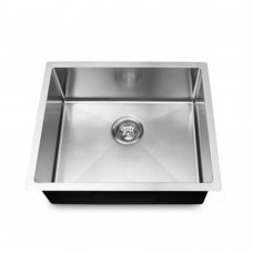 1.2mm Round Corner Stainless Steel Handmade Single Bowl Top/Flush/Undermount Kitchen/Laundry Sink 440x440x205mm