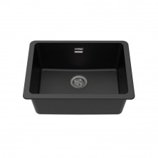 Black Granite Quartz Stone Top/Under Mounted Kitchen Sinks Single Bowl..
