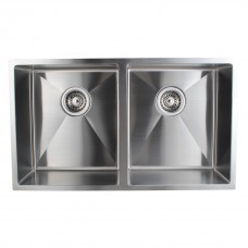 1.2mm Handmade Double Bowls Top/Undermounted Kitchen Sinks 770x450x215mm