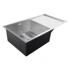 810x440x232mm 1.2mm Handmade Single Bowls Top/Undermounted Kitchen Sinks With Drainboard Corrosion Resistant Oilproof Easy Clean