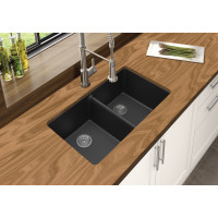 Black Kitchen Sinks Granite Stone Top/Under Mou..