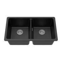 838*476*241mm Black Kitchen Sinks Granite Stone..