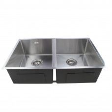 865x440x200mm 1.2mm Handmade Double Bowls Top/Undermounted Kitchen Sin..