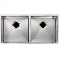 1.2mm Handmade Double Bowls Top/Undermounted Kitchen Sinks 865x440x200..