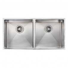 1.2mm Handmade Double Bowls Top/Undermounted Kitchen Sinks 865x440x200mm