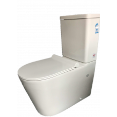 690x360x820mm Ceramic White Box Rimless Back To Wall Toilets Suite Two..