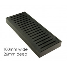 100-5600mm Lauxes Aluminium Midnight Wide Floor Grate Drain Any Size I..