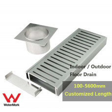 100-5600mm Lauxes Aluminium Standard Floor Grate Drain Customized Leng..