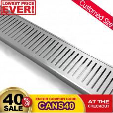 100-5600mm Lauxes Aluminium Wide Floor Grate Drain Customized Length Indoor Outdoor