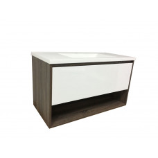 900mm 1 Drawer Wall Hung Vanity Units UPMARKET AFFORDABLE  Cabinet with  Slim Polymarble Top