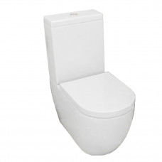 690x370x830mm Ceramic White Box Back To Wall Toilets Suite Two Piece T..